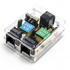 Разветвитель ADSL  для интернета (модем и телефон) прозрачный корпус