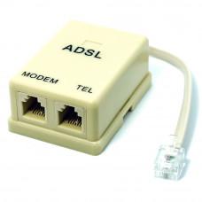 Разветвитель ADSL  для интернета (модем и телефон) с кабелем 0.2м