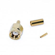 Штекер SMA-RP реверсный (на кабель RG-174) обжимной, Gold