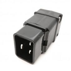 Штекер питания C20, SS-810, IEC 60320, 16A, 220В, 3 контакты, на кабель