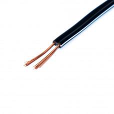 Кабель питания DC, 2C х 0.33мм2, медь, черный c белой полосой, 1м