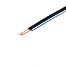 Кабель питания DC, 2C х 0.20 мм2, медь, черный c белой полосой, 1м