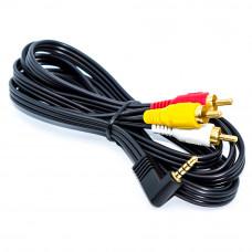 Шнур штекер 3.5мм (4pin) угловой - 3 штекера RCA, 1.8м
