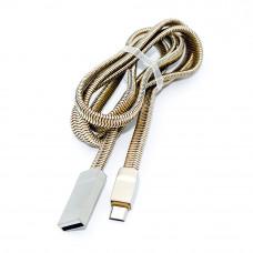 Кабель micro USB 5pin, LS20, LDNIO, металлические разъёмы, в сетке, 1.0м
